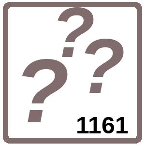 Arbeitsblatt: Übung 1161