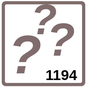 Arbeitsblatt: Übung 1194