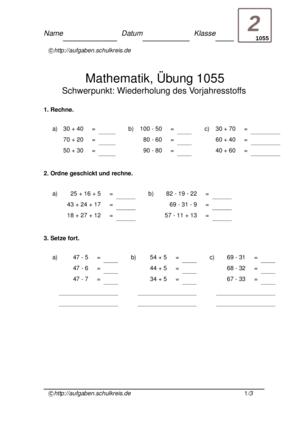 Klassenarbeit 1055