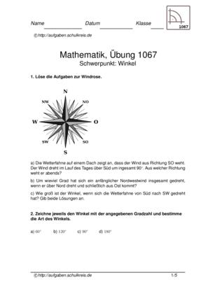 Klassenarbeit 1067