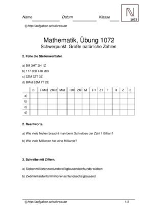 Klassenarbeit 1072
