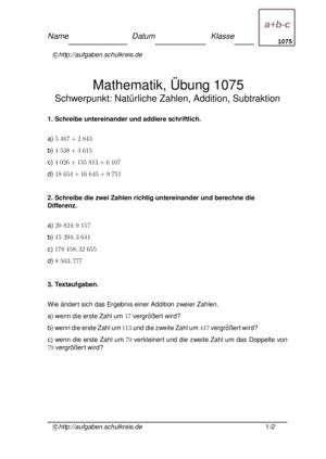 Klassenarbeit 1075
