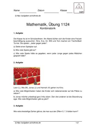 Klassenarbeit 1124