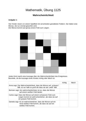 Übung Kombinatorik allgemein Wahrscheinlichkeitsrechnung