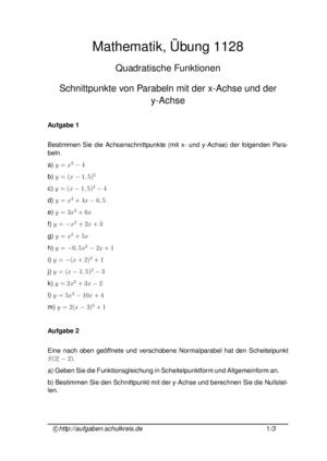 Klassenarbeiten Und übungsblätter Mathematik Hauptschule