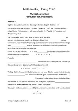 Wahrscheinlichkeit Klasse 8-10