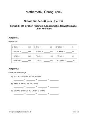 Klassenarbeit 1206