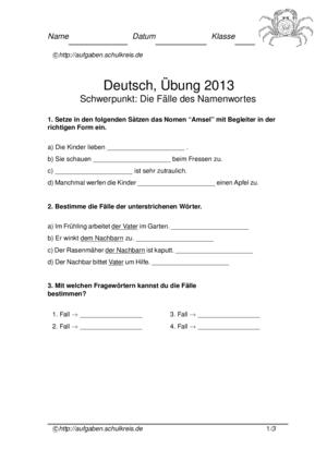 Klassenarbeit 2013