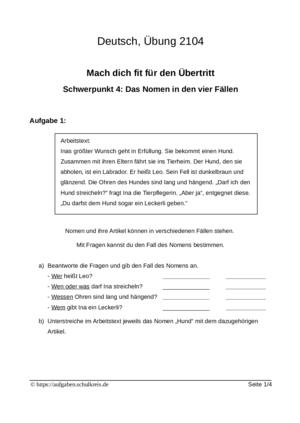 Probeunterricht Klasse 4